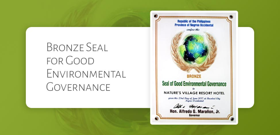 Natures Village Resort Bags Bronze Seal of Good Environmental Governance