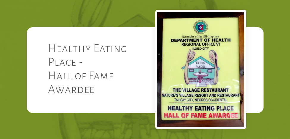 Healthy Eating Place – Hall of Fame Awardee